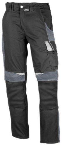 PKA BestWork Bundhose Arbeitshose (56, Schwarz/Grau) (Arbeitskleidung Herren)