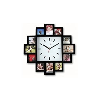 Design Wall Clock With Photo Frames U2013 Photo Clock 12 Pictures
