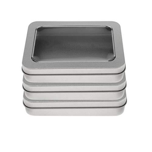 alldose Metallbox Metall Behälter Container Organizer mit Deckel, 115 × 85 × 23 mm - a ()
