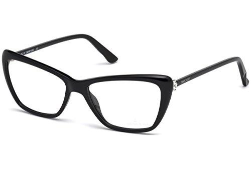 Swarovski - GLORIOUS SK5173, Schmetterling, Acetat, Damenbrillen, SHINY BLACK(001 F), 54/15/140