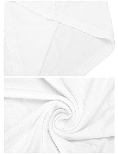 Maglietta Corta Classica con Pancia Scoperta T-Shirt di Base da Donna Bianco
