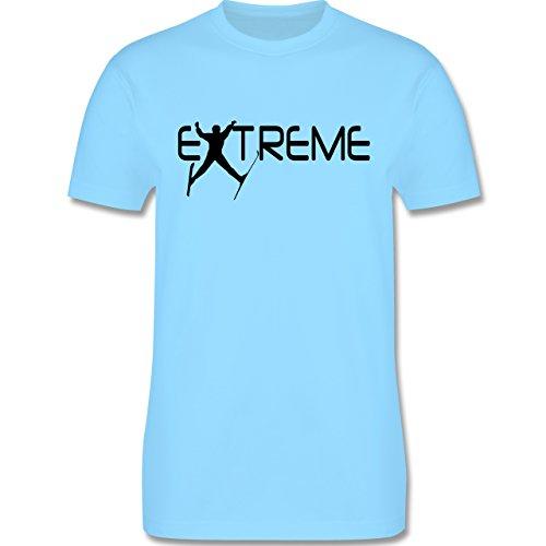 Wintersport - Ski Extreme - Herren Premium T-Shirt Hellblau