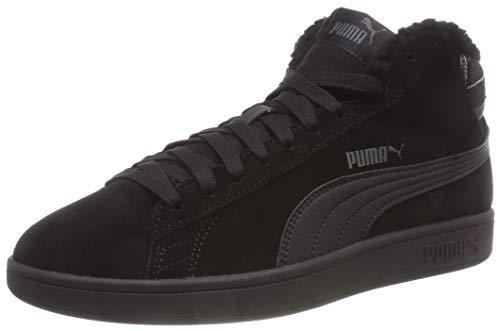 Puma Unisex-Erwachsene Smash v2 Mid WTR Sneaker, Black Black, 46 EU