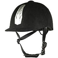 Hkm New Air Stripe – Casco de equitación, ajustable, color - negro, tamaño 52-54 cm