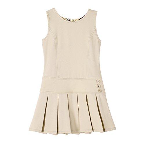 Bienzoe Mädchen Dehnbar Hightech Teflon Schuluniformen Kleider Khaki Größe 8 -