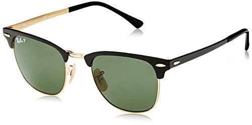 Ray-Ban Unisex-Erwachsene 0RB3716 187/58 51 Sonnenbrille, Gold Top Black/Polargreen,