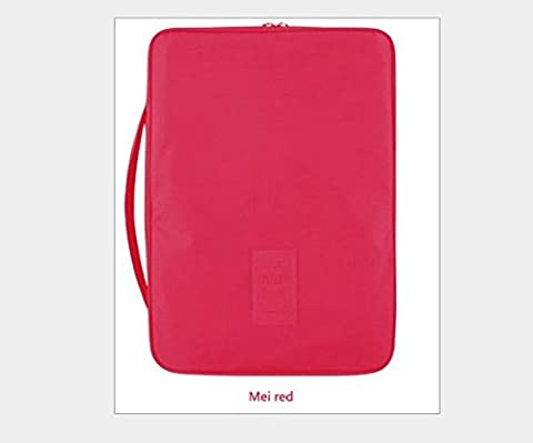 nabotht Outdoor Hemd Krawatte Bag Travel Reise tragbar Multi-Funktionspaket Bag Finishing mei red (Rubbermaid Speicher Totes)
