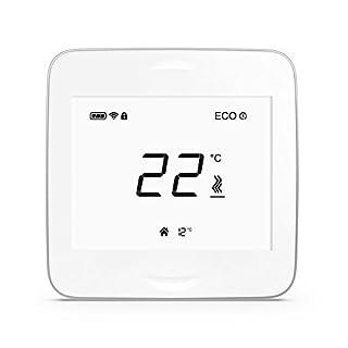 AirPatrol RoomUnit. Smart Wandthermostat ohne InfraRot BodenFühler, iOS und Android apps. Funktioniert mit AirPatrol SmartHeat ControlUnit.