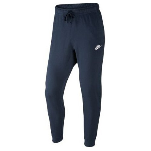 Nike Sportswear Club Jogger JSY Pantalon Homme, Obsidian/White, FR : L (Taille Fabricant : L)