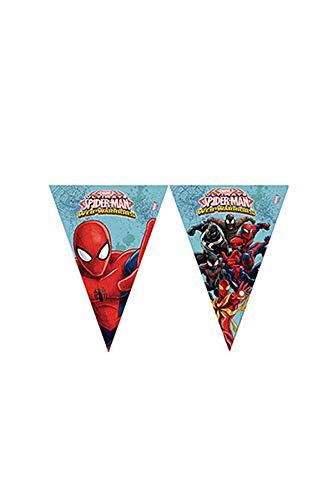 Procos 85162 – Filage fanions Ultimate Spider Man Web Warriors, 2.3 m, rouge/bleu/bleu clair