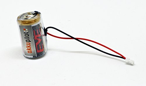 2er Set ER14250M Lithiuür DOM Protector Schließzylinder / Schließanlage Batterie 3,6V Ersatzbatterie mit Montageleuchte