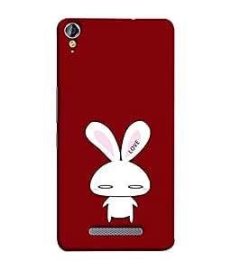 PrintVisa Designer Back Case Cover for Micromax Canvas Juice 3+ Q394 :: Micromax Canvas Juice 3 Plus Q394 (Love Rabbit With Cute Ears Design)