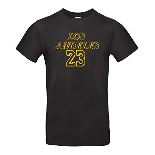 HoB Los Angeles Lakers NBA Basketball T-Shirt - Lebron James (23) - (M) - Lebron James Nba