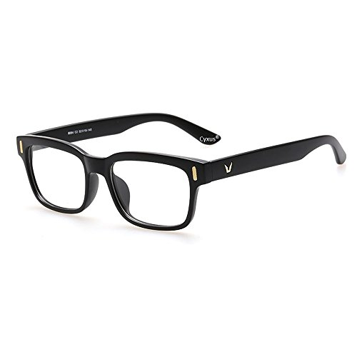 cyxus-blue-light-filter-better-sleep-block-uv-transparent-lens-black-frame-vintage-glasses-anti-glar