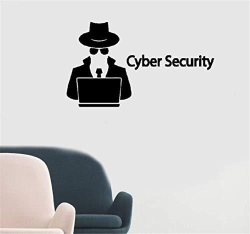 Wandaufkleber Schlafzimmer Cybersicherheits-Hacker-Spion-Agent Laptop