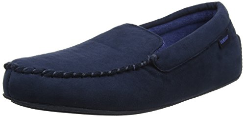 Isotoner Mens Suedette Moccasin Slipper, Chaussons Bas Homme