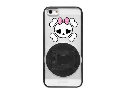 Cellet Hybrid Proguard Schutzhülle für iPhone 5-Girly Skull-schwarz