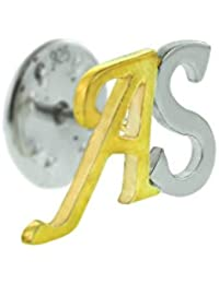 Aastha Jain Personalised Sterling Silver Initial Coat Pin for Men