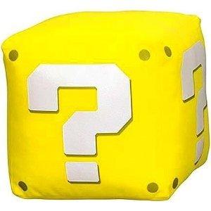 New Super Mario Bros. Wii Kuscheltier Stofftier Plüschtier Plüsch Figur ?-Block Fragezeichen Block (mit Sound) 18 cm (Super Mario Bros Plüsch-wii)