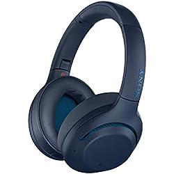 Sony WH-XB900N Casque Bluetooth à réduction de Bruit Extra Bass Optimisé pour Google Assistant et Amazon Alexa, Bleu