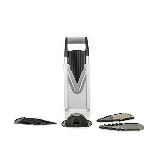 Mandolina / rallador V6 en acero inoxidable (inclusive 2 placas con cuchillas...