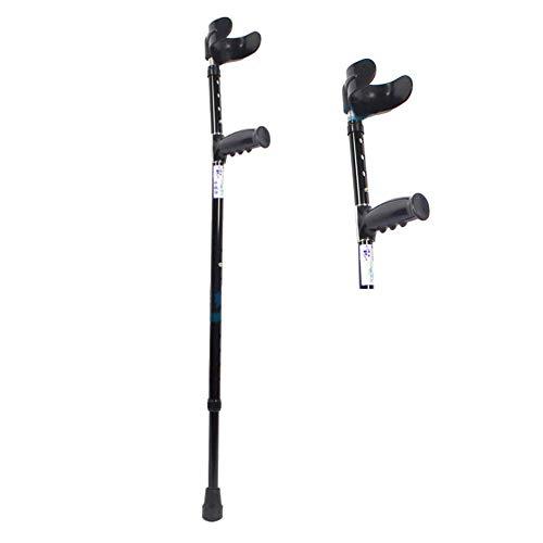 Ergonomische Klapp-krücken (QINAIDI Aluminium-Unterarmkrücken, ergonomischer Griff, zehn höhenverstellbare Zahnräder für Standard- und große Erwachsene,1pcs)