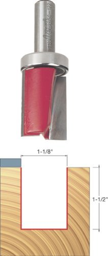 Freud 50-122 1-1/8 Diameter Top Bearing Flush Trim Router Bit with 1/2 Shank by Freud