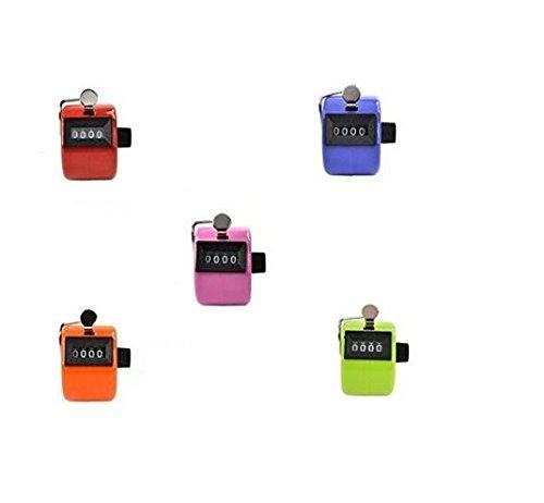 philna12couleurs assorties portable Compteur manuel 4chiffres affichage (5pièces)
