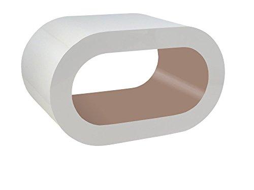 Zespoke Design Blanc Brillant et Cappacino Cerceau Table Basse TV/Meuble en Différentes Tailles