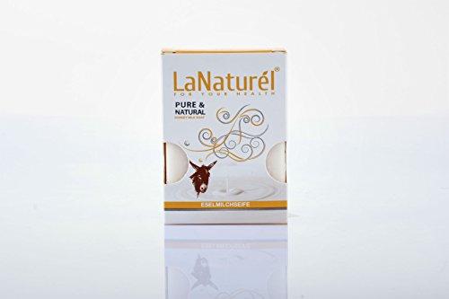 LaNaturel Handseife Naturseife Bio frisch mit Duft Eselmilchseife - Milch Gesicht Esel