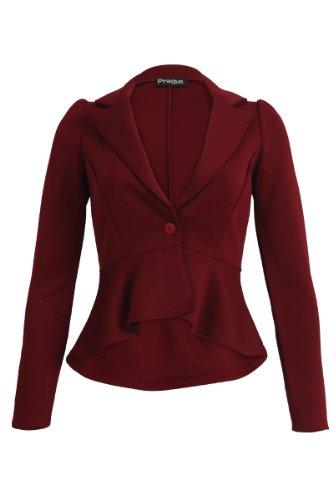 My1stWish - Veste de tailleur -  Femme Rouge - Bordeaux