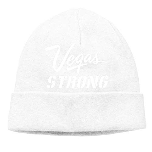 Vegas Strong Warm Stretchy Solid Daily Skull Cap Knit Wool Beanie Hat Outdoor Winter Fashion Warm Beanie Hat