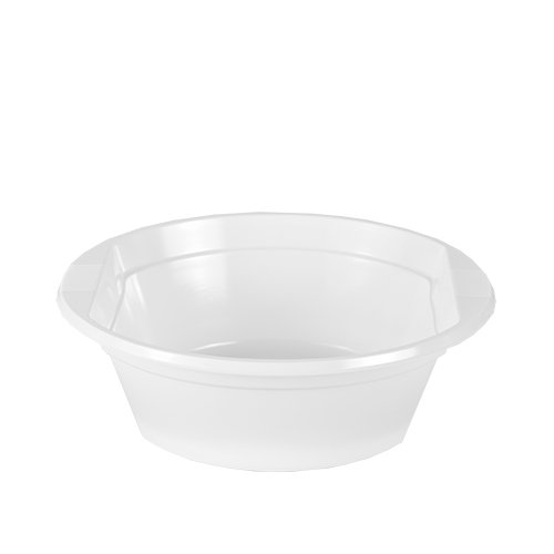 Pack of 20 Polystyrene Round 500 ml 15.8 cm x 5.3 cm White Soup Bowls with Handles Test