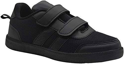 SKUDO KazarMax Boy's & Girl's (Unisex) with Superlight Weight Black School Shoes (Made in India) Size:-34