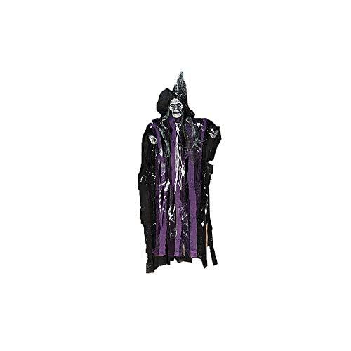 Halloween Hanging Geist Scary Elektro Vocal Beleuchtung Skelett Animation Schwimm Ghoul-Geist-Skelett für Halloween Dekoration Lila (Geist Dekorationen Von Halloween)