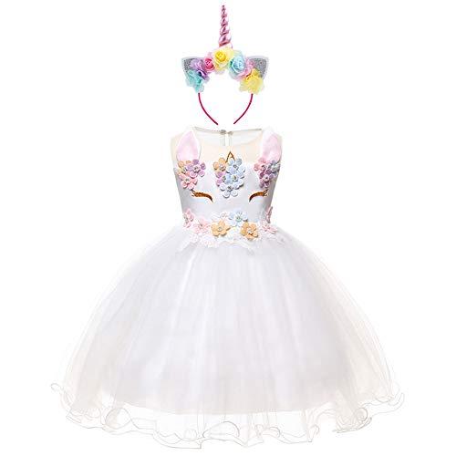 8954bd41b666 OBEEII Neonato Costumi Unicorno Compleanno Festa Bambine Abito Principessa Carnevale  Vestito da Halloween Natale Cerimonia Cosplay