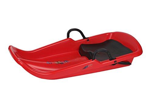 Plastkon bobs schlittenbob led di cyclone, colore rosso, 41106120