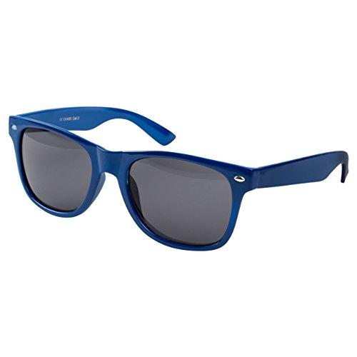 Ciffre Nerdbrille Sonnenbrille Stil Brille Pilotenbrille Vintage Look Hell Blau Dunkle Gläser NBL