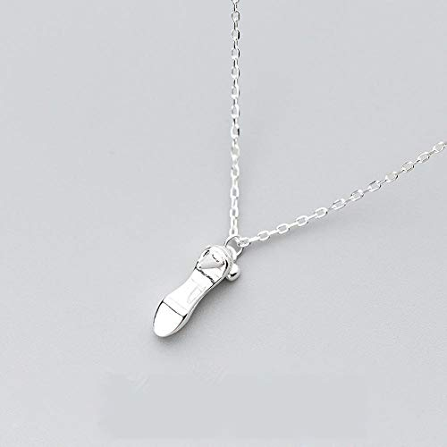 PYIP Frauen Halskette 925 Silber Mode Highheels SchlüSselbein Kette 51Cm - 80Cm, VerläNgerung Kette 10Cm