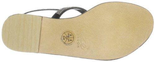 Unze Evening Sandals, Sandali donna Nero (Schwarz (L18267W))