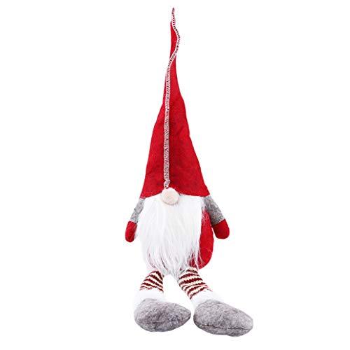 KISSFRIDAY Rot Weihnachten kein Gesicht Lange Beine Bart Alter Mann Puppe Ornamente