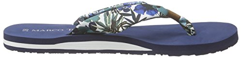 Damen Co Zehentrenner navy Flower 27113 Tozzi Blau 874 Marco gq5TfT