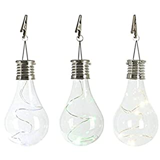 Winkey Tragbare LED-Zugschnur Leuchtmittel Kronleuchter Outdoor Garten Camping LED Pendelleuchte Lampe Bulb Size: Approx. 5.5 * 5.5 * 15cm Clear 7.5x15cm