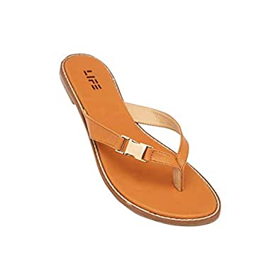 Life Womens Casual Wear Slip On Flats_Brown_41