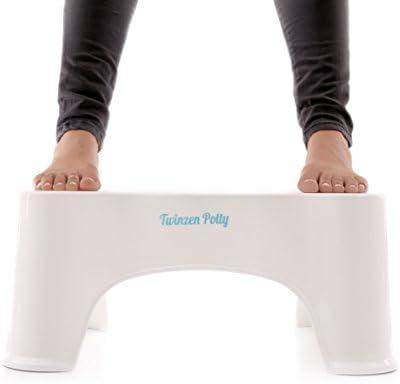 Taburete Para Inodoro Twinzen Potty – Postura Correcta En El Inodoro Para Unos Resultados Más Cómodos y Saludables