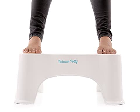 Twinzen Potty - Proper Toilet Posture for a More Comfortable and Healthier Results, Gastroenterologist Recommended - Toilet squat stool
