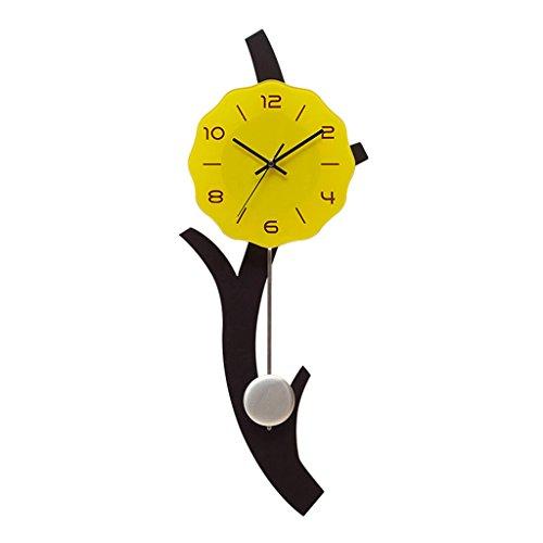 Horloges Murale en Bois Accueil Salon muet 12 Pouces (Color : Digital)