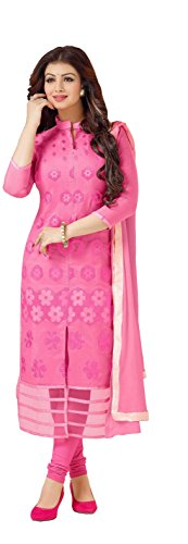 Blissta Women's Pink Cotton Embroidered Unstitched Churidar Dress Material (AGPMR02)(Diwali special 2017, ,great indian festival sale,festival offer,best deals of the day,traditional for women,sales offers)  available at amazon for Rs.999