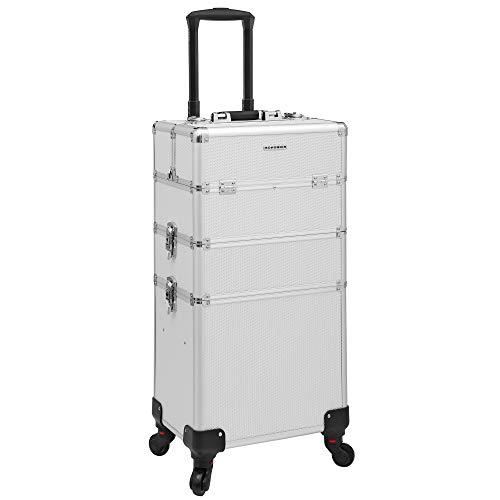 SONGMICS trolley make up Beauty Case Nail Art Valigia Cofanetto Porta Gioie Smalti Oggetti JHZ01S