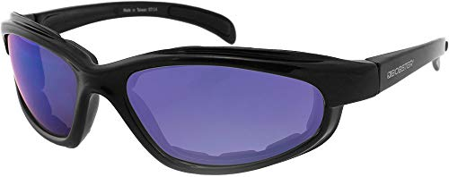 Bobster Fatboy Sunglasses with Black Frame and Smoked Lenses, Black Gloss